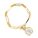 Gold Plated Silver State Coin Bracelet image