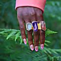 Yellow Mega Gemstone Gold Statement Ring image