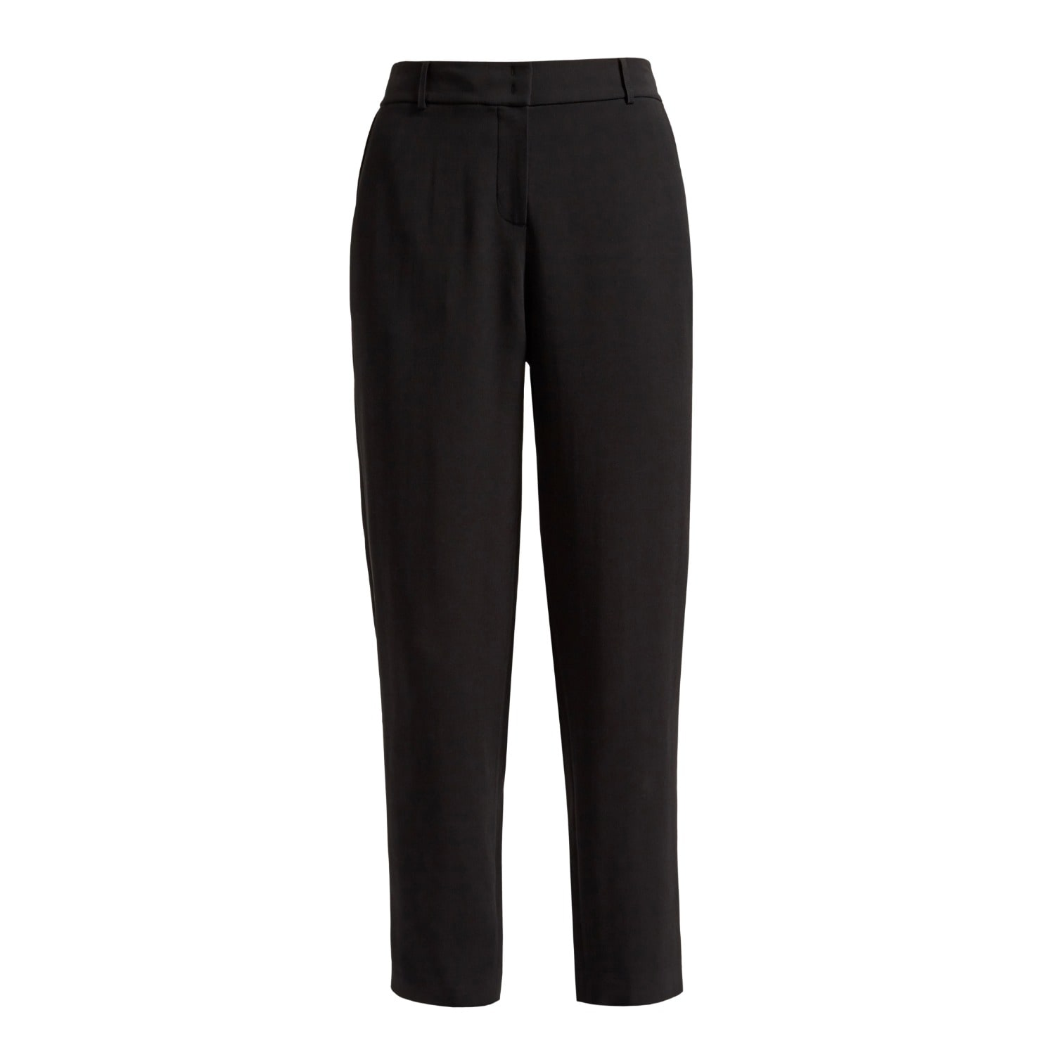 WtR - Sonia Black Cady Tapered Trousers
