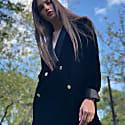 Silk Velvet Blazer In Black image