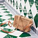 Tiny Rectangle Rattan Crossbody Bag image