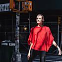 Hexagon Organic Cotton T-Shirt Red image