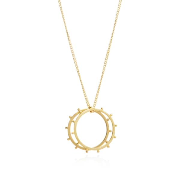 Punk Rings Necklace Gold