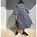 Yukata Shirt Navy Blue & White. image