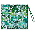 Green Vegan Leather Wristlet Purse image