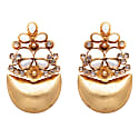 Mother Of Pearl and Crystal Statement Earrings image