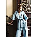 Mary-H Wrap Dress Kimono In Pale Blue image