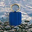 Water Metal Handle Small Bucket Bag - Royal Blue image