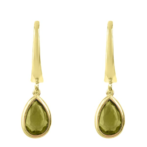 Pisa Mini Teardrop Earring Gold Peridot