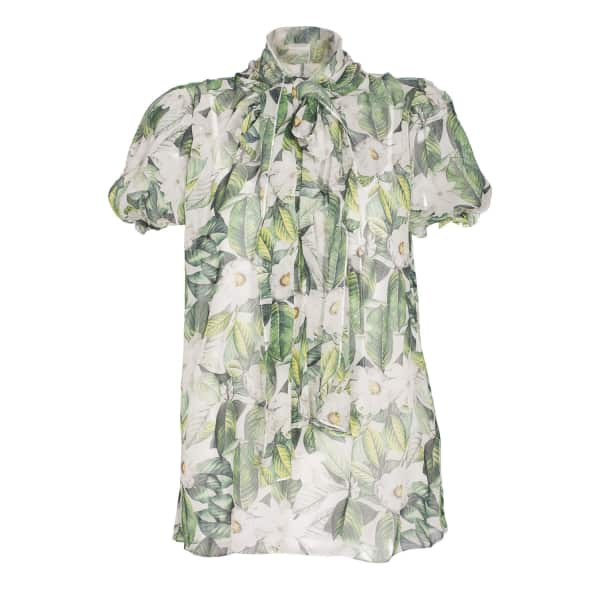 NISSA Silk Top With Floral Print