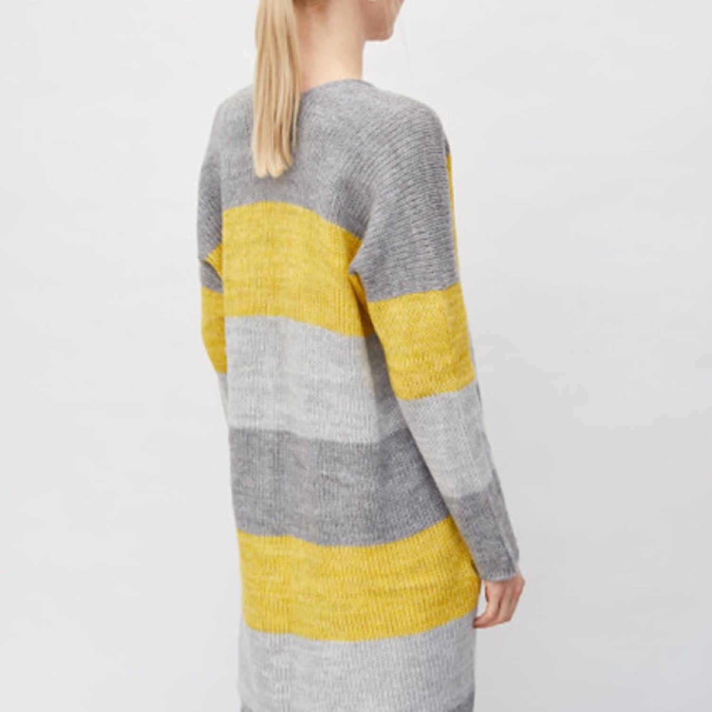 Long Striped Cardigan Yellow (S) by You by Tokarska