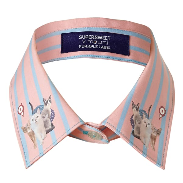 SUPERSWEET X MOUMI Candy Stripe Collar Pink