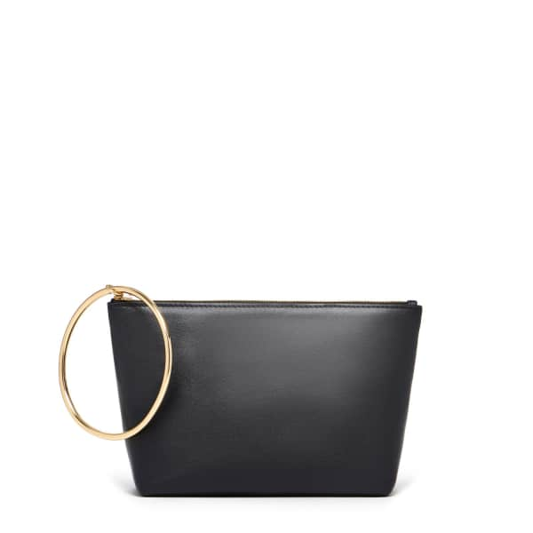 THACKER NEW YORK Large Ring Pouch In Black & Gold
