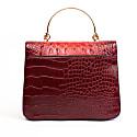 Thais Vegan Croc Mini Bag - Ruby Red image