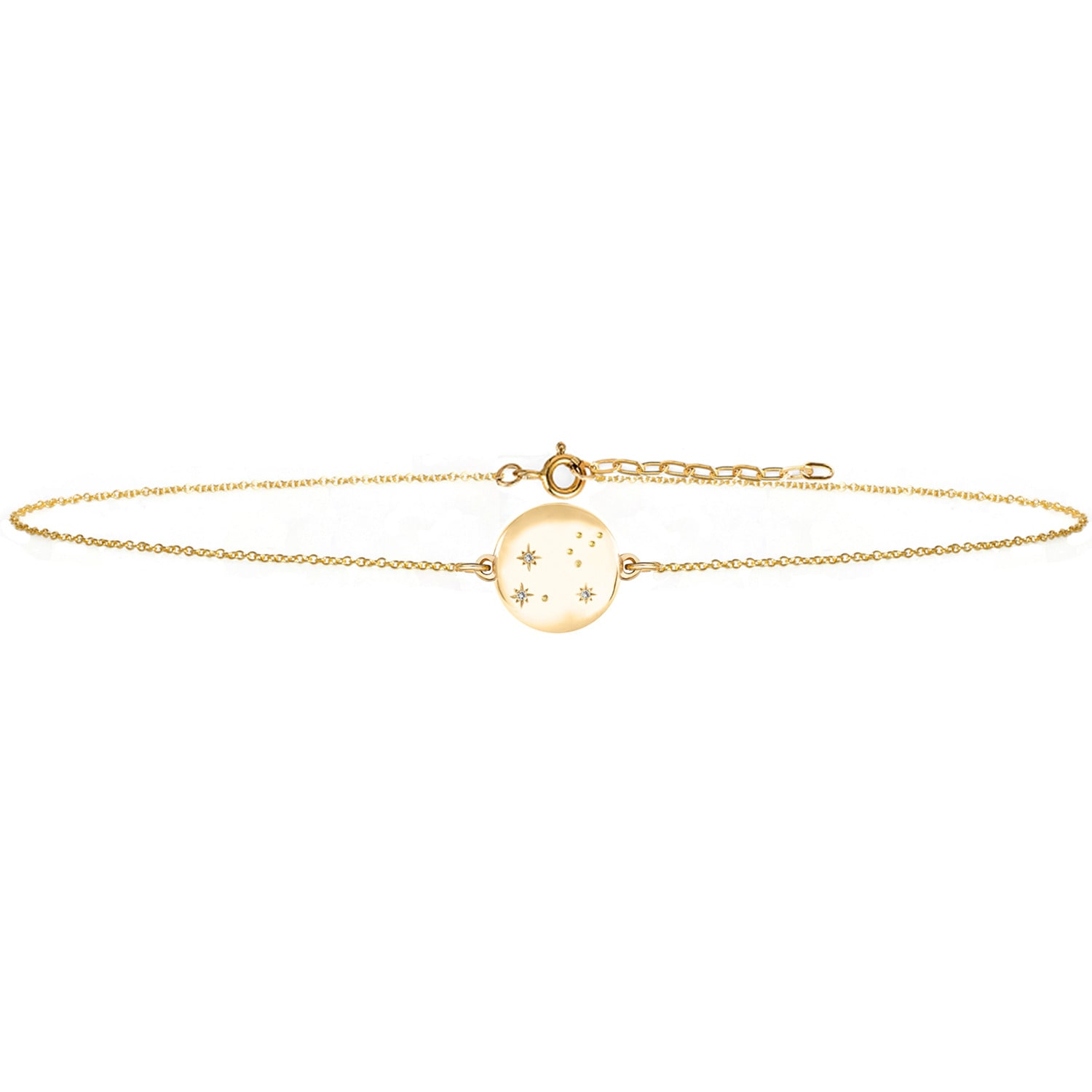 No 13 - Leo Zodiac Constellation Choker Diamonds & Gold