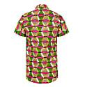 Men's Short-Sleeved African Print Shirt - Rhubarb image