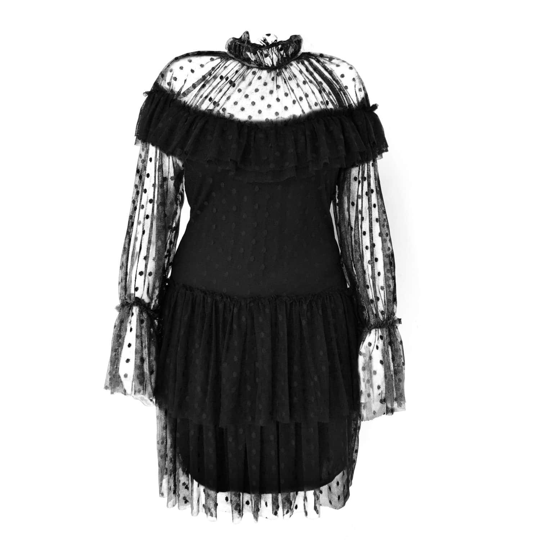 05df321388e Polka-Dot High Neck Mini Dress | LEFON New York | Wolf & Badger