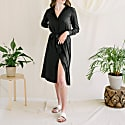 Olivia Classic Shirt Dress In Black image