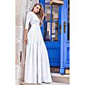 Jacquard Maxi Dress Eleonore White image
