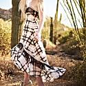 Hathairt Goldfield Shirring Ruffle Midi Dress image