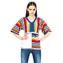Colorful V-Neck Knitwear Jumper image
