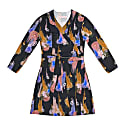 Terez Gloomy Flower Print Wrap Dress image