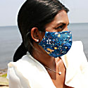 100% Organic Cotton Face Mask - Blue Leopard image