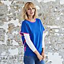 Eva Cashmere Jumper Blue and Pink image