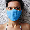 Crochet Face Mask In Blue image