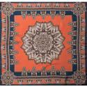 Earth Mandala Bandana Silk Twill Scarf image
