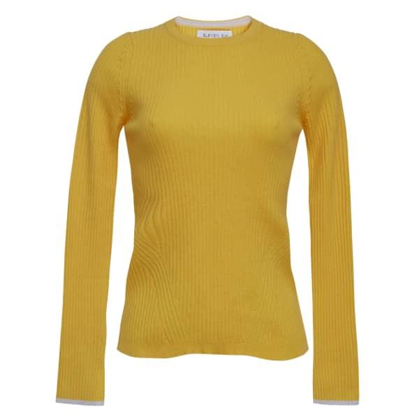 Eleven Six Aura Crew Neck Sweater - Canary In Orange
