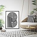 Geometric Typography Print 'A-Z' image