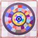 Cyclades Silk Scarf Wheel of Luck image