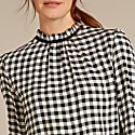 Emi Top In Black & White Gingham image