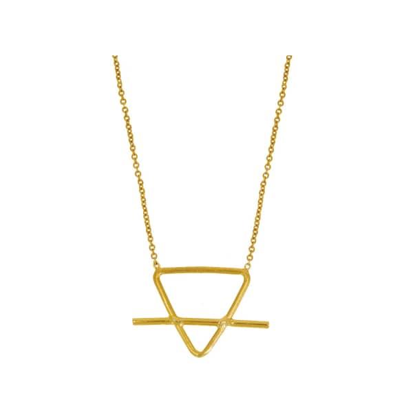 OTTOMAN HANDS Alchemist Earth Symbol Gold Necklace