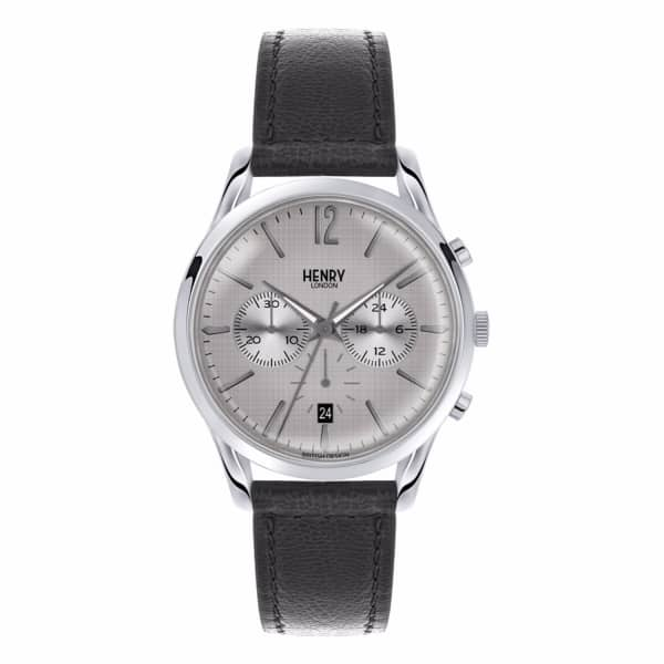 HENRY LONDON Unisex 39Mm Piccadilly Chronograph Leather Watch