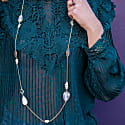 Solar Quartz & Mother Of Pearl Long Necklace image