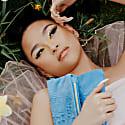 Ophelia Micro-Suede Leather Clutch - Polo Blue image