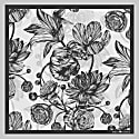 The Tulip & Peony Pocket Square Charcoal image