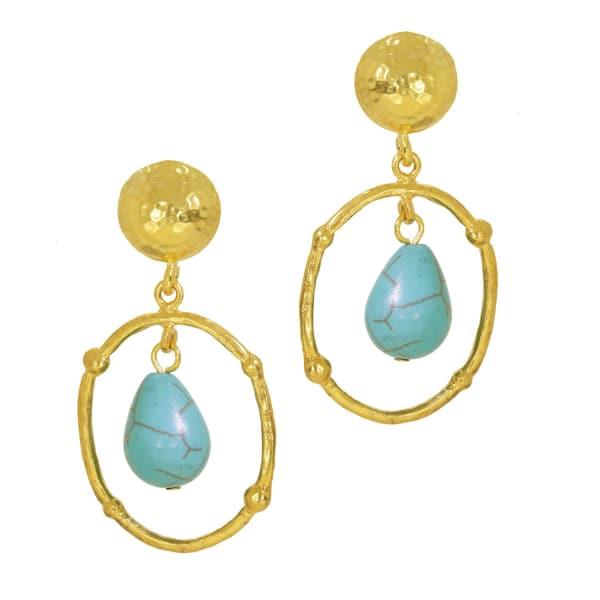 OTTOMAN HANDS Bygone Turquoise Drop Earrings