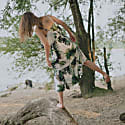 Plants Print Ruffled Dress image