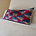 Xl Lumber Cushion In Bright Pink & Blue Design image