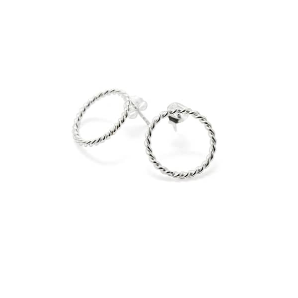 ISABEL LENNSE S Twisted Circle Earrings