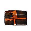 Abstract Check Velvet Zip Pouch image