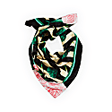 Medium Artichokes Roses & Stripes Silk Scarf image