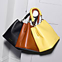 Vegan Leather Mimi Bucket Bag - Black image
