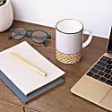 Maze Mid Grey and Orange Mug image