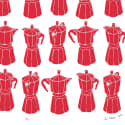 Moka Express Coffee Maker Screen Print in Firetruck Red image