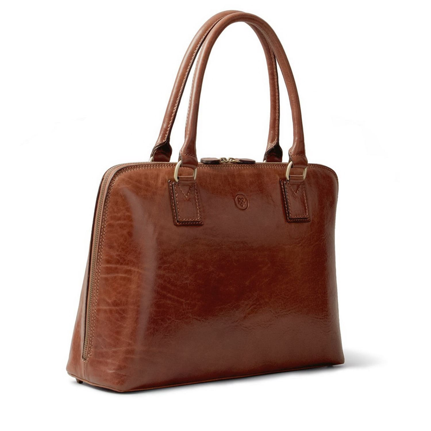 2eecf113e119 Luxury Italian Leather Women s Work Tote Bag Fiorella Chestnut Tan ...