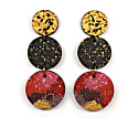 Elise Dangle Statement Earrings - Cherry Gold image